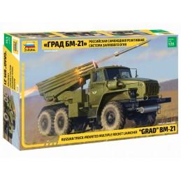"""Camion lance roquettes russe BM-21 """"Grad"""" 1/35 Zvezda"""