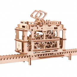 Tram on rails Puzzle 3D wood UGEARS