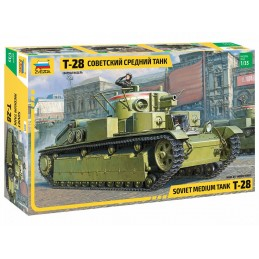Char Lourd Soviétique T-28 1/35 Zvezda