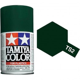 Peinture bombe Vert foncé mat TS2 Tamiya