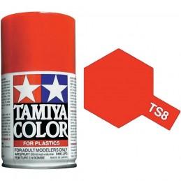 Peinture bombe Rouge Italien brillant TS8 Tamiya