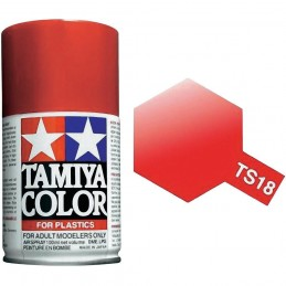 Peinture bombe Rouge Métal brillant TS18 Tamiya