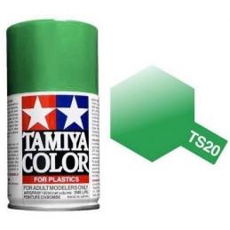 Peinture bombe Vert Métal brillant TS20 Tamiya