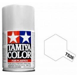 Peinture bombe Blanc Pur brillant TS26 Tamiya