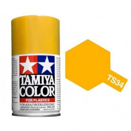 Peinture bombe Jaune Camel brillant TS34 Tamiya