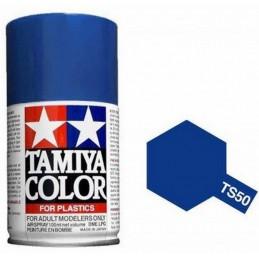 Peinture bombe Bleu Mica brillant TS50 Tamiya