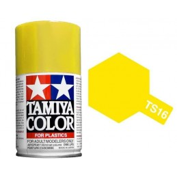 Peinture bombe Jaune brillant TS16 Tamiya