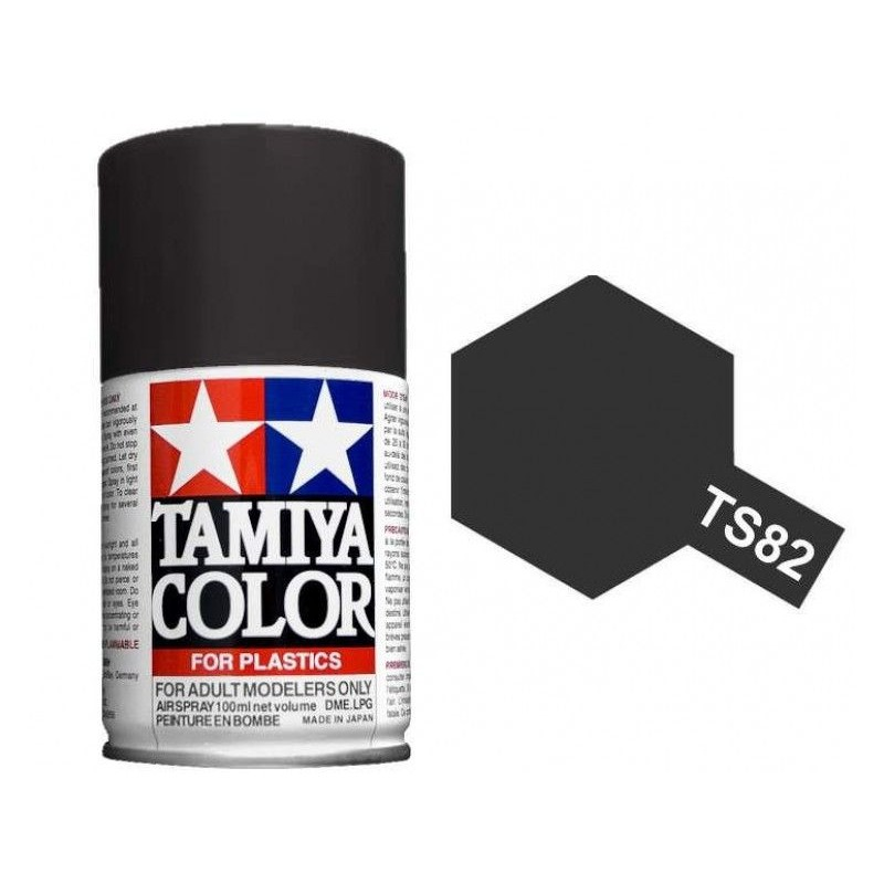 peinture bombe noir caoutchouc mat ts82 tamiya 85082. Black Bedroom Furniture Sets. Home Design Ideas