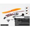 Kit motorisation indoor moteur bls 1106 + ESC 1S + hélice + 3 servos DW Hobby