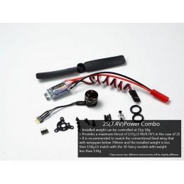 Kit motorisation indoor moteur bls 1106 + ESC 2S + hélice + 3 servos DW Hobby