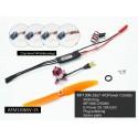 Indoor motorization Kit BLS 1306 + ESC 2S + propeller + 4 servos DW hobby