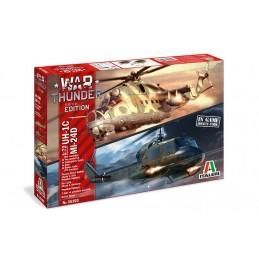 Helicos MI-24D & UH-1D war Thunder 1/72 Italeri