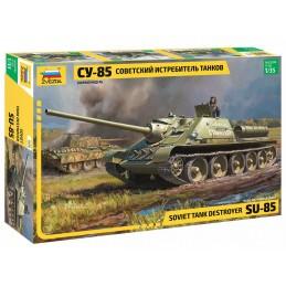 Char Chasseur de chars soviétique SU-85 1/35 Zvezda