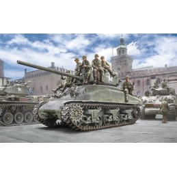 Tank M4A1 Sherman and INFANTRY US 1/35 Italeri