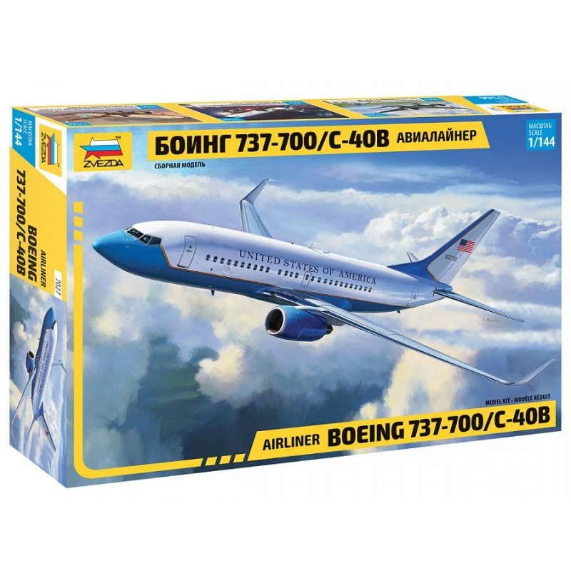 Boeing 737-700 / C-40B 1/144 Zvezda