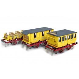 Voitures voyageurs Adler 1/24 kit construction bois métal OcCre