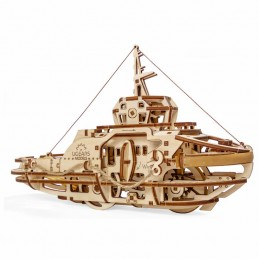 UGEARS 3D wood tugboat