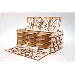 Coffret à cartes 3D bois UGEARS 70068