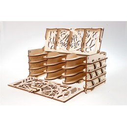 UGEARS wood 3D card box