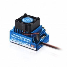 Variateur brushless XERUN 120A V2.1 Sensored Bleu 1/10 Hobbywing 82020170