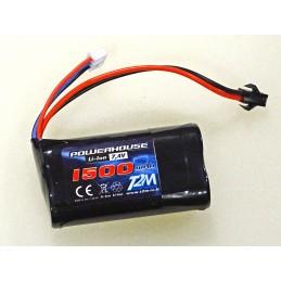 Batterie Li-Ion 7.4V 1500mAh bateau Exocet 380 T2M T620/02