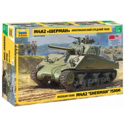 Tank M4A2 Sherman 1/35 Zvezda