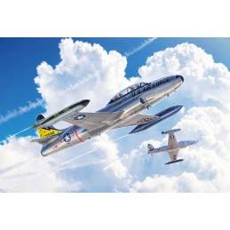 Plane Jet T-33A Shooting...