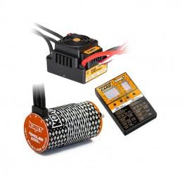 Combo brushless 1/8 ESC WP 150A + moteur 2200kv 4P 4274 + carte prog Konect KN-COMBO-M9