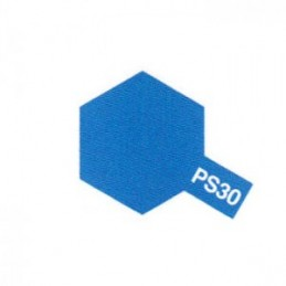 Bombe Lexan bleu brillant PS-30 Tamiya