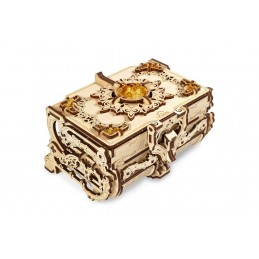 Jewelry box with amber 3D...