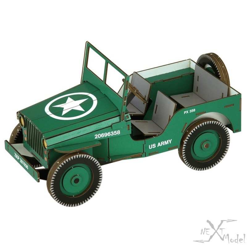 Willys Jeep 3D-Model Siva