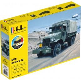 Camion GMC US-Truck 1/35 Heller + colle et peintures 57121