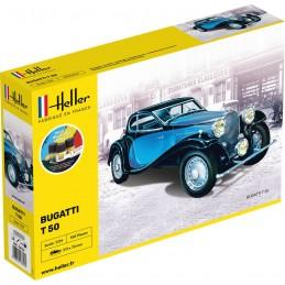Bugatti T 50 1/24 Heller + colle et peintures 56706