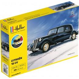 Citroen 15 CV 1/24 Heller + colle et peintures 56763