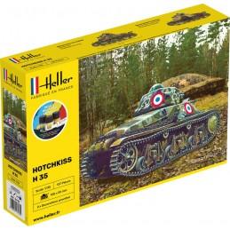 Char HOTCHKISS 1/35 Heller + colle et peintures 57132