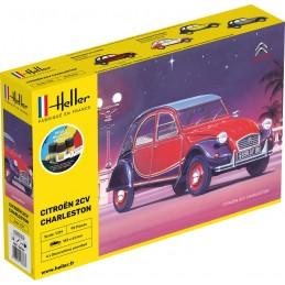 Citroen 2CV Charleston 1/24 Heller + colle et peintures 56766