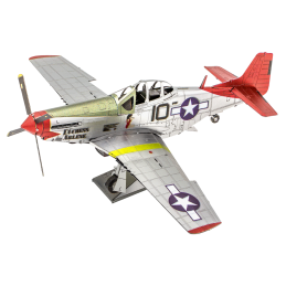 Iconx Avion P-51D Mustang Tuskegee Airmen Metal Earth ICX142