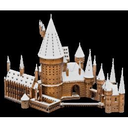 Chateau Hogwarts Poudlard sous la neige Potter Metal Earth ICX138