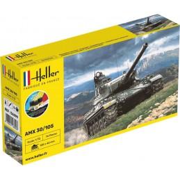 Char AMX 30/105 1/72 Heller + colle et peintures 56899