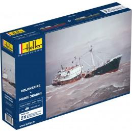 Coffret bateaux Volontaire + Marie Jeanne 1/200 Heller 85604