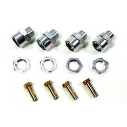 Adaptateurs de roues en aluminium de 12mm à 17mm (+15mm) (4) Absima 2560023