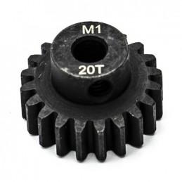 Pignon moteur 20T 1/8 5mm module 1 Konect KN-180120
