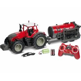 Tracteur Fendt Vario rouge + citerne d'épandage 1/16 RTR Carson 500907345