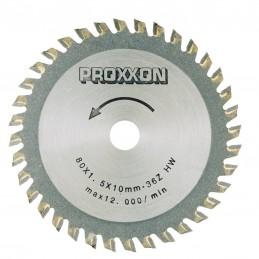 Lames de scie à plaquettes carbure 80 mm, 36 dents Proxxon 28732