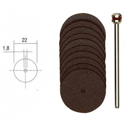 Disques à tronçonner en corindon 22mm (x10) + support Proxxon 28810