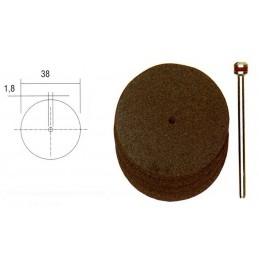 Disques à tronçonner en corindon 38mm (x5) + support Proxxon 28820