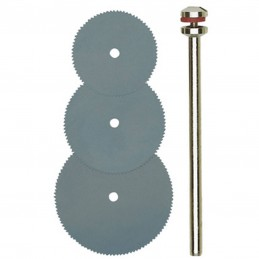 Disques à tronçonner en acier 16,19 et 22 mm + support Proxxon 28830