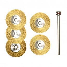 Brass disc brush Ø 22 mm...