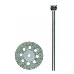 Disque à tronçonner diamanté avec aération 20mm + support Proxxon