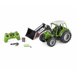 Green tractor with front...